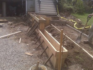 Concrete wall footings